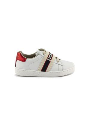 timeless design 87c4d f3202 GUCCI. Sneaker bassa Ace in pelle bianca