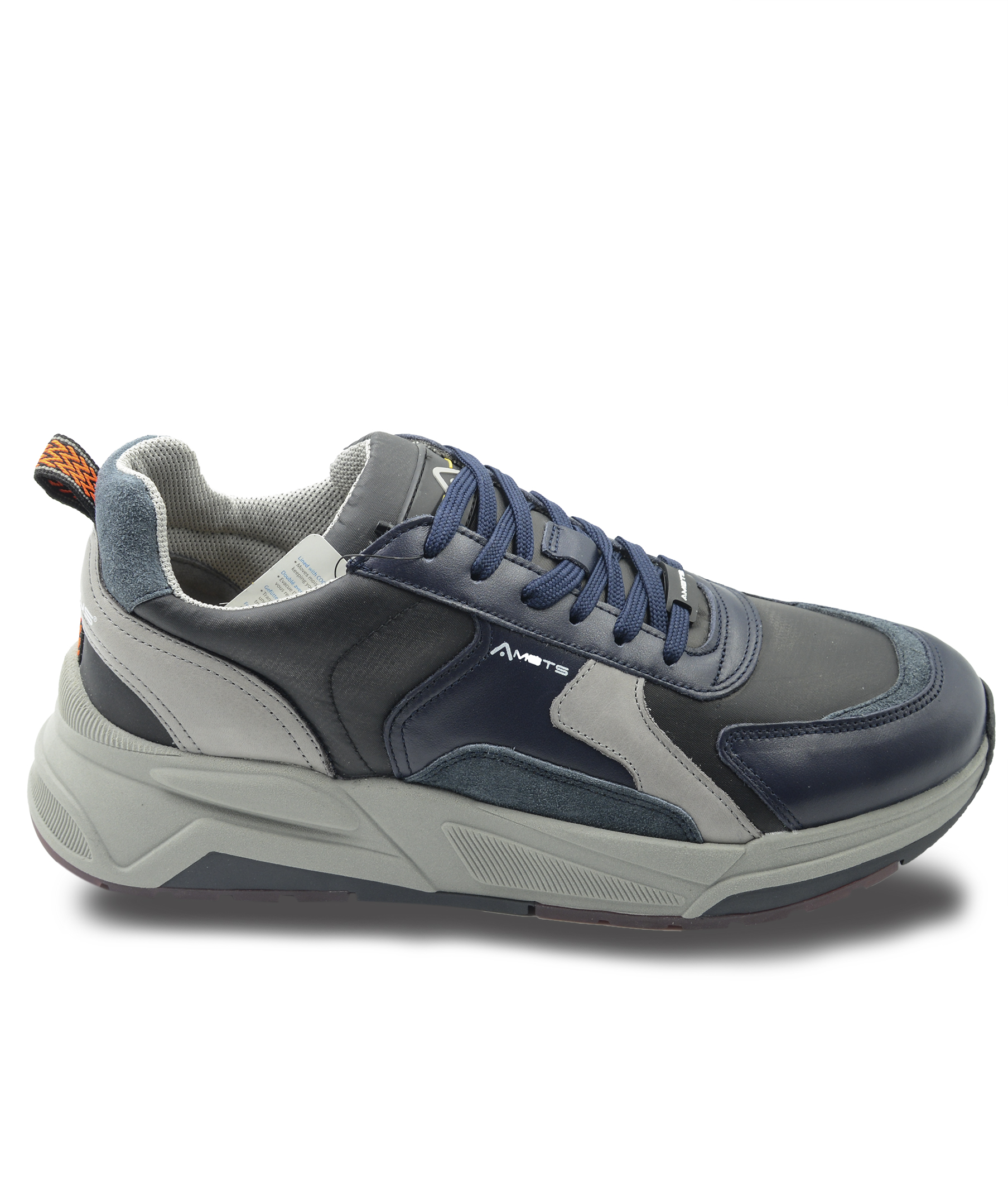 Sneakers Uomo in Pelle Blu Multicolor Ambitious | Sneakers | 10720BLU