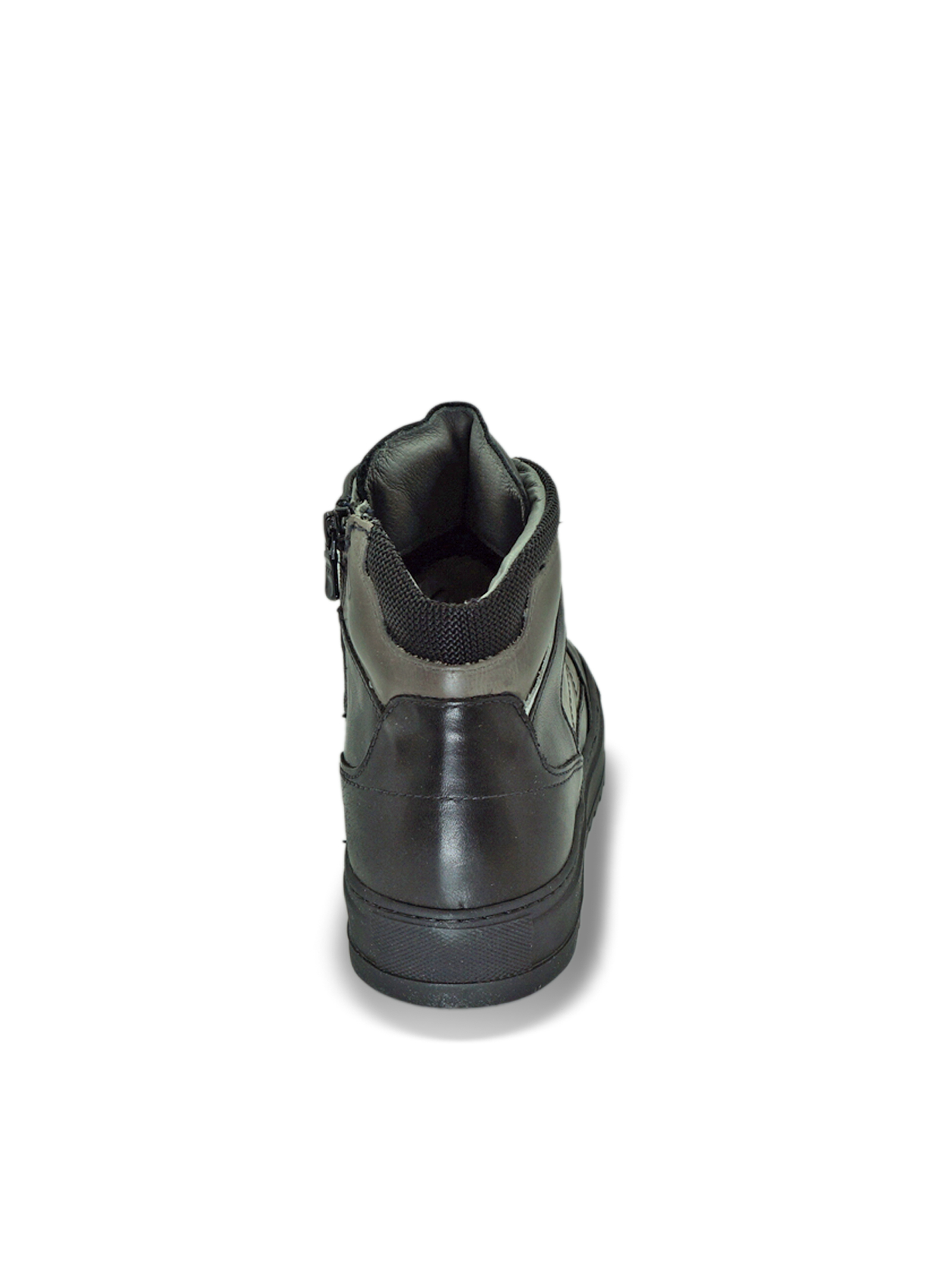 Sneakers da Uomo in Pelle con Lacci e Zip Nero Giardini | Sneakers | I001832UNERO