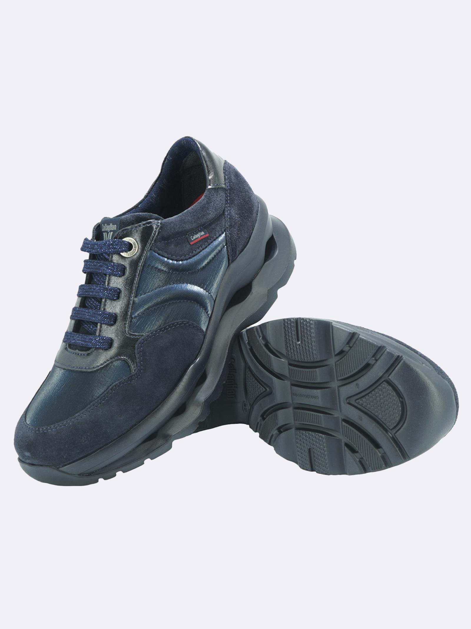 Sneakers Donna in Pelle Blu con Plantare Estraibile Callaghan   Sneakers   18810BLU