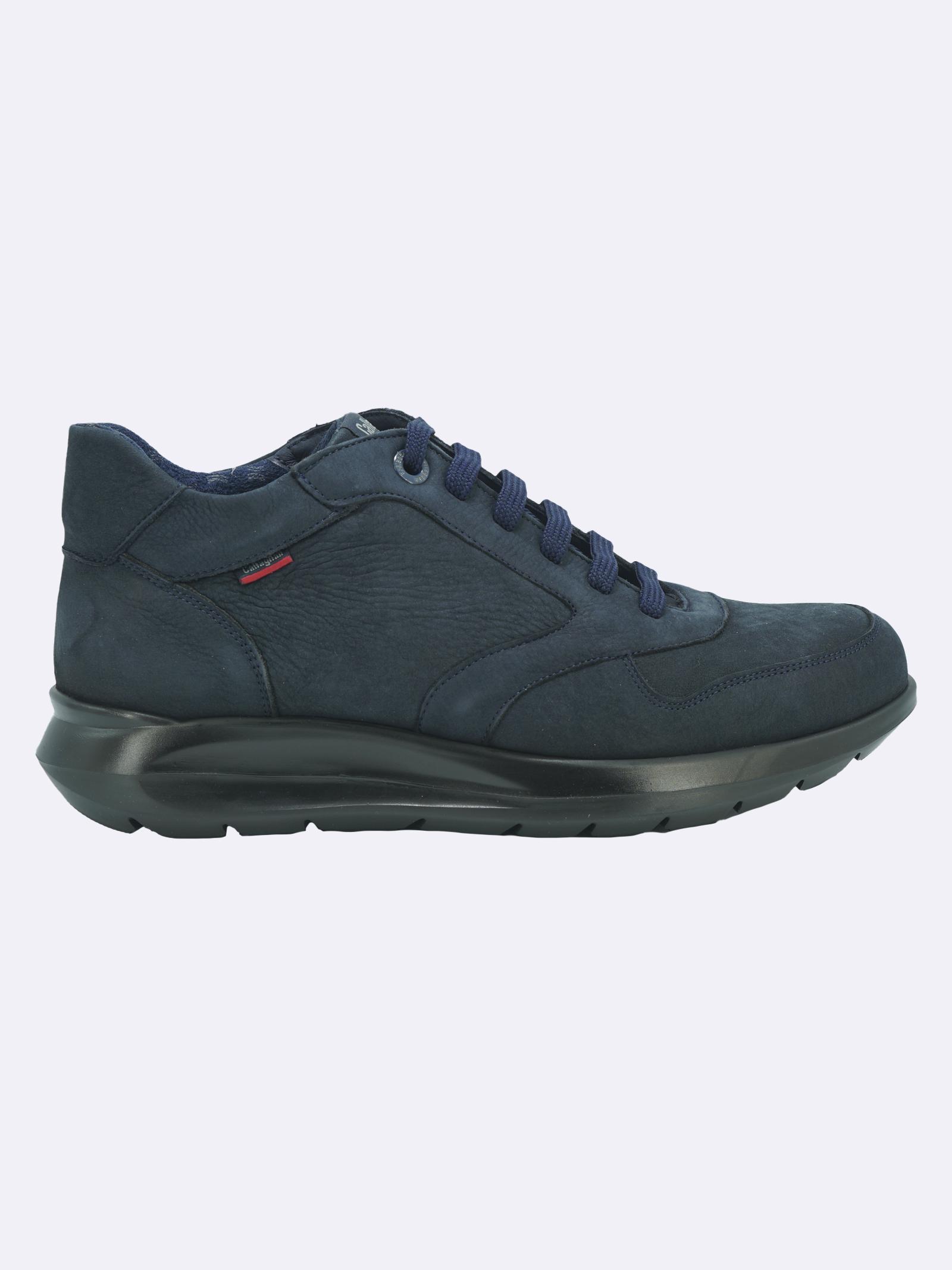 Sneakers Uomo in Pelle Blu con Plantare Estraibile Callaghan   Sneakers   42604BLU