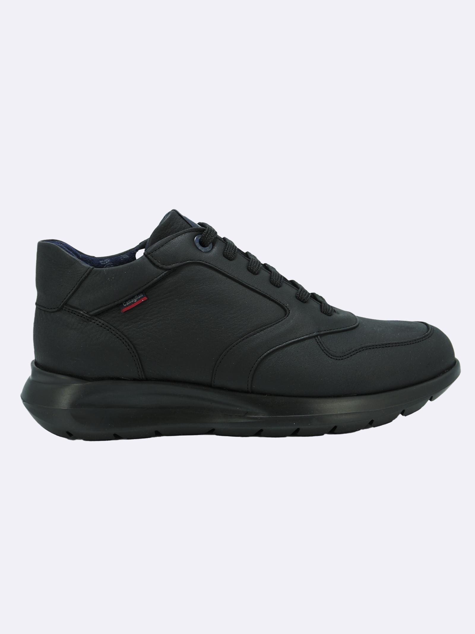 Sneakers Uomo in Pelle Nero con Plantare Estraibile Callaghan | Sneakers | 42604NERO