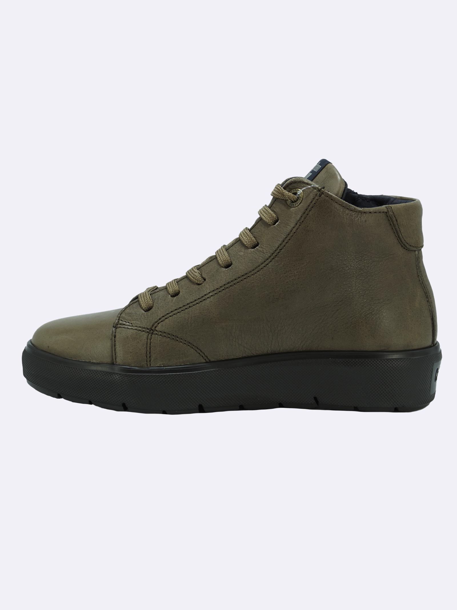 Stivaletto Sneakers Uomo in Pelle Pietra con Lacci e Zip Callaghan   Stivaletti   45510PIETRA
