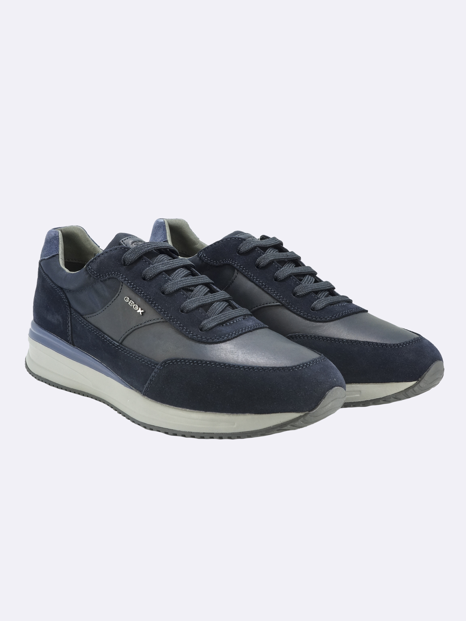 Sneakers Uomo in Pelle Blu GEOX | Sneakers | DENNIEU150GABLUC1018