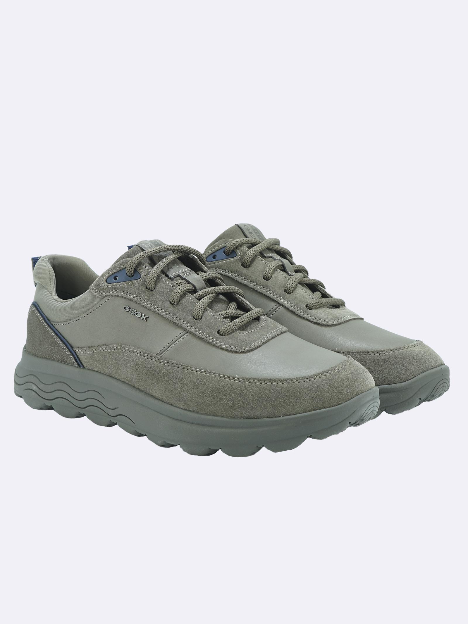 Sneakers Uomo in Pelle GrigiaSphericaV GEOX   Sneakers   SPHERICAU16BYEGRIGIOC1018