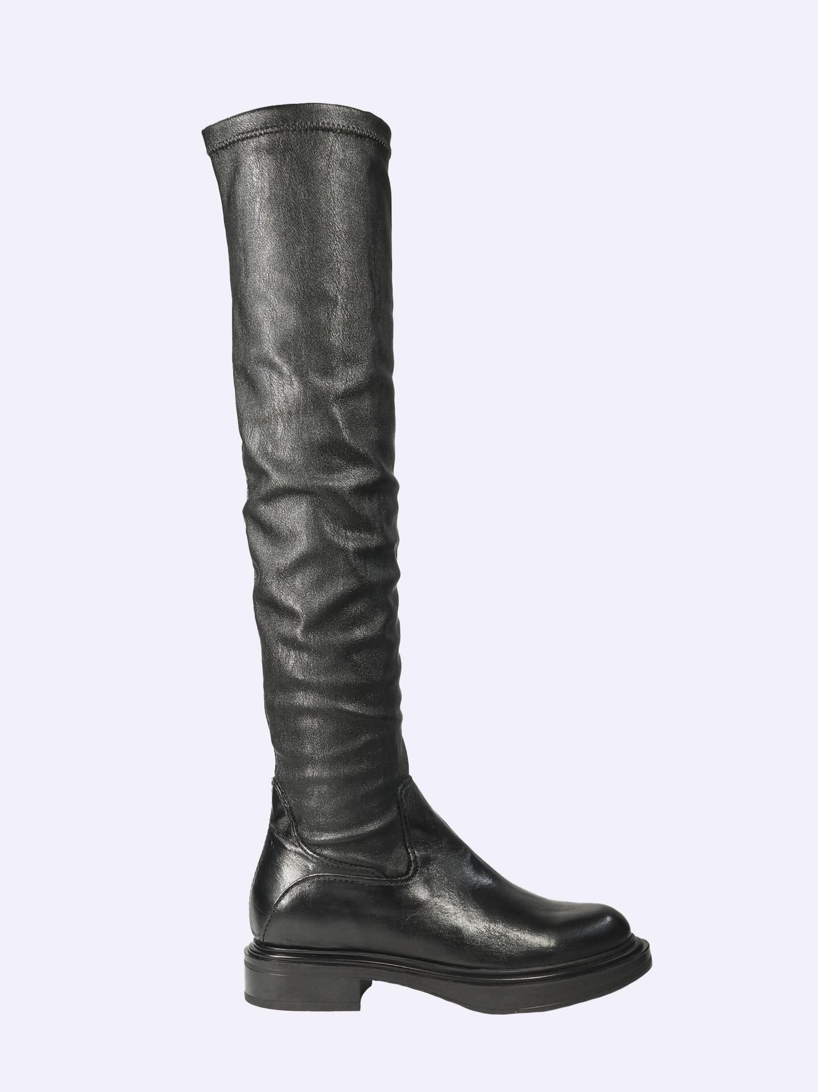 Stivali al Ginocchio Donna in Pelle Nera Mjus | Stivali | M58334BLACK