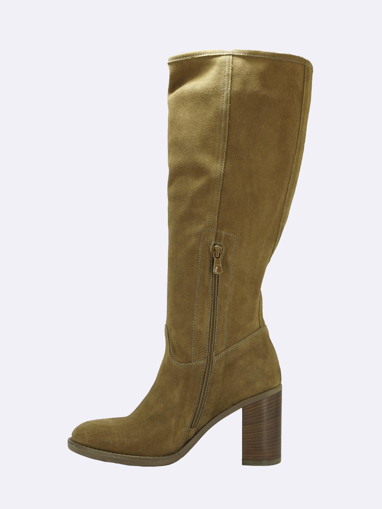 Stivali Donna in Camoscio Cuoio Nero Giardini   Stivali   I014042DMALTO339