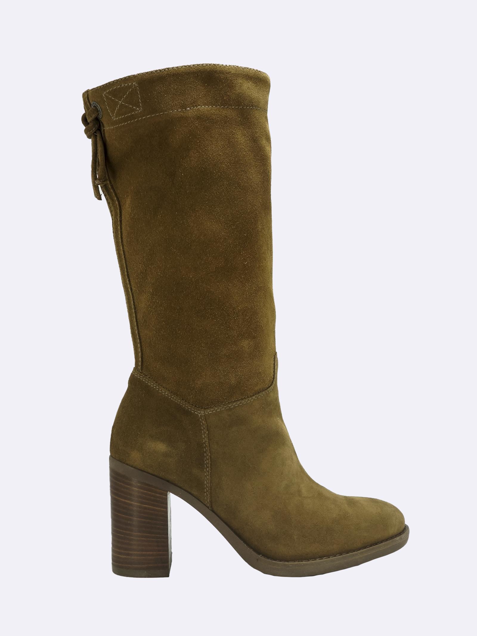 Stivali Donna in Camoscio Cuoio a Mezza Gamba Nero Giardini   Stivali   I014046DMALTO339