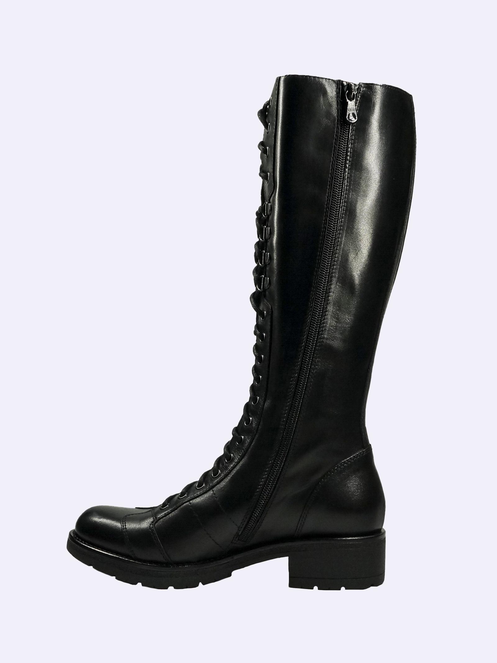Stivali Donna con Lacci in Pelle Nero Giardini Nero Giardini | Stivali | I014151D100