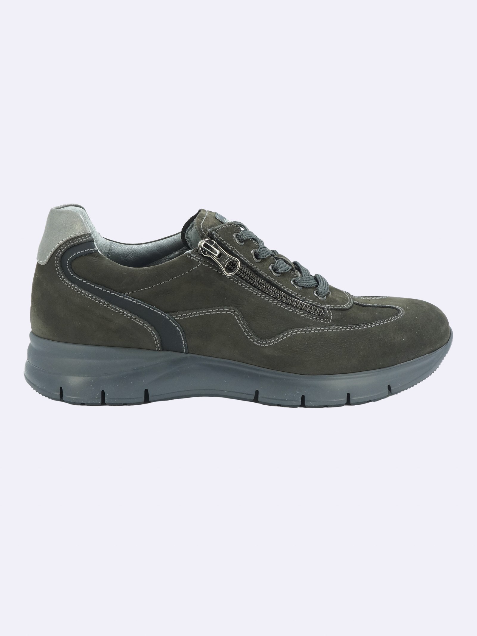 Sneakers Uomo in Pelle Nero Giardini Nero Giardini | Sneakers | I102154U101