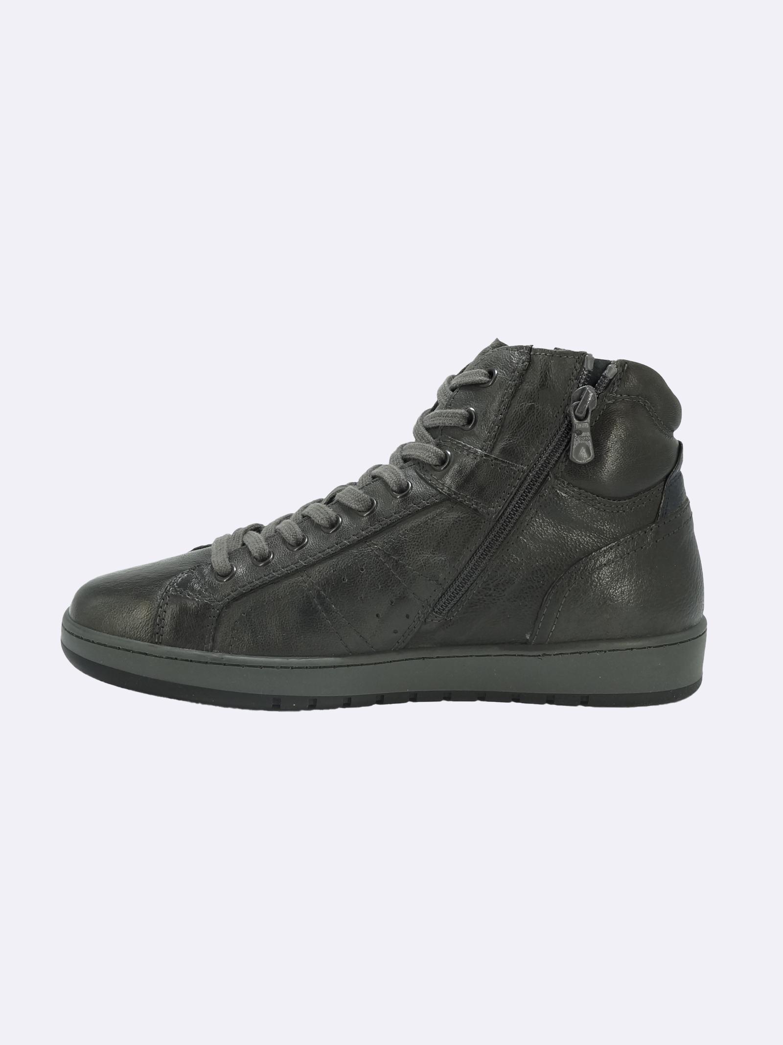 Sneakers Stivaletto Uomo in Pelle con Lacci e Zip Nero Giardini   Sneakers   I102190UPIOMBO109