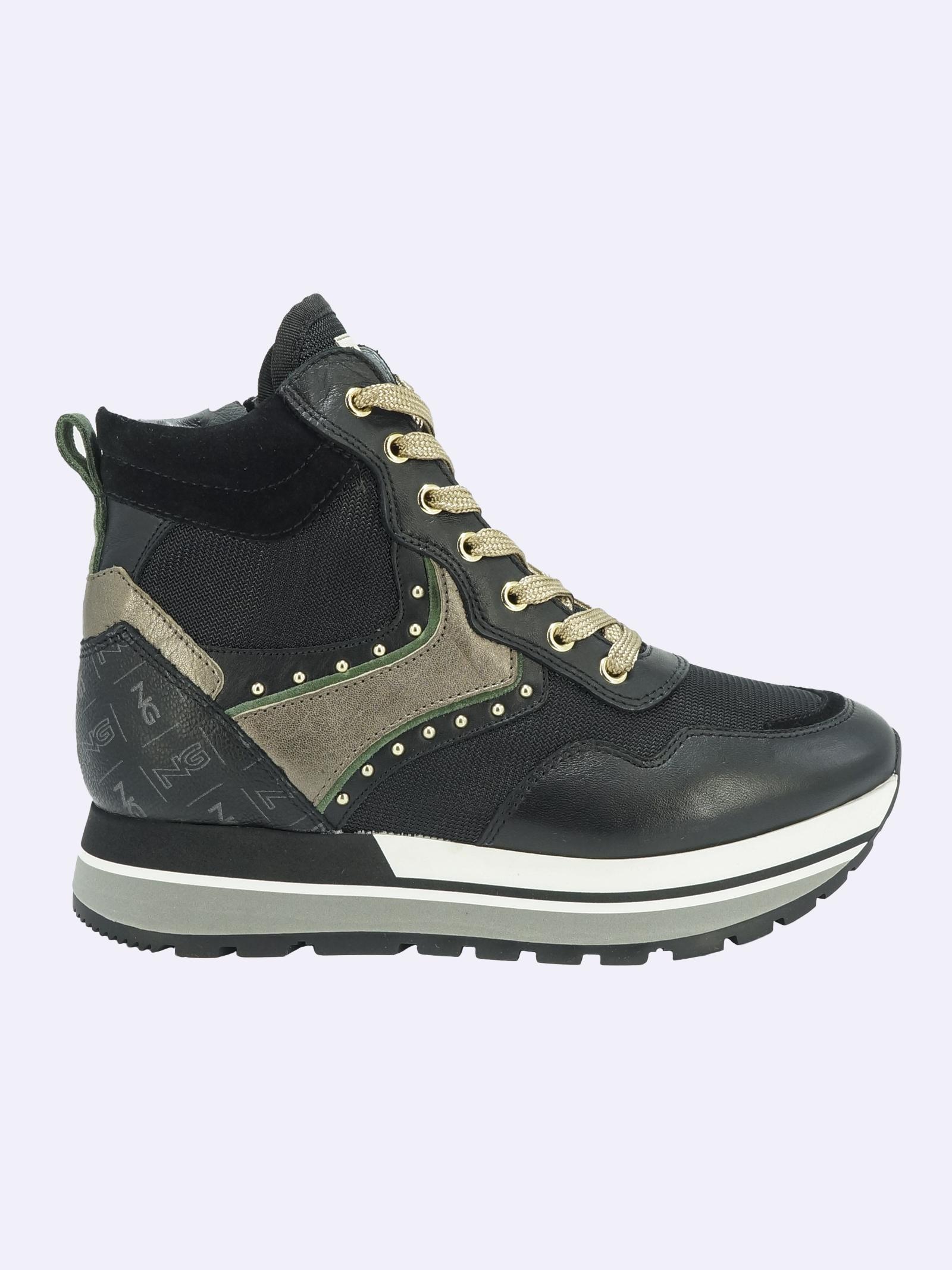 Sneakers Donna in Pelle Nero Giardini Nero Giardini | Sneakers | I116943D100