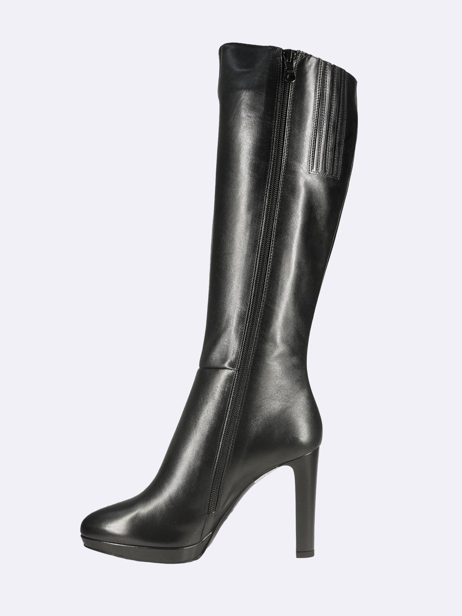 Stivali Donna in Pelle Nera Tacco Alto e Plateau Nero Giardini | Stivali | I117252DENERO100