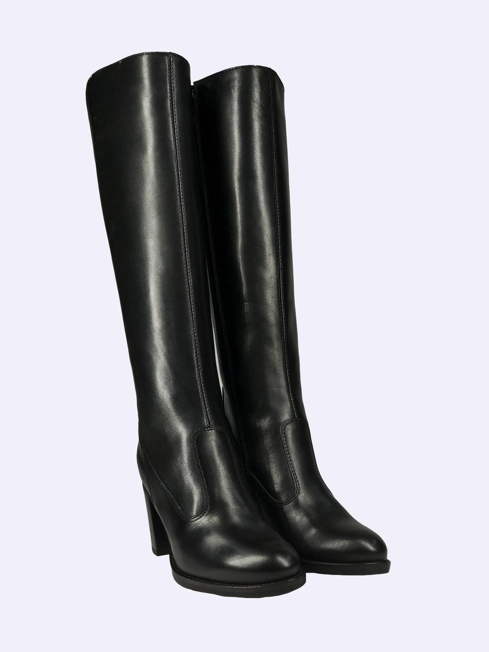 Stivali Donna in Pelle Nera con Elastico al Polpaccio Nero Giardini | Stivali | I117571DNERO100