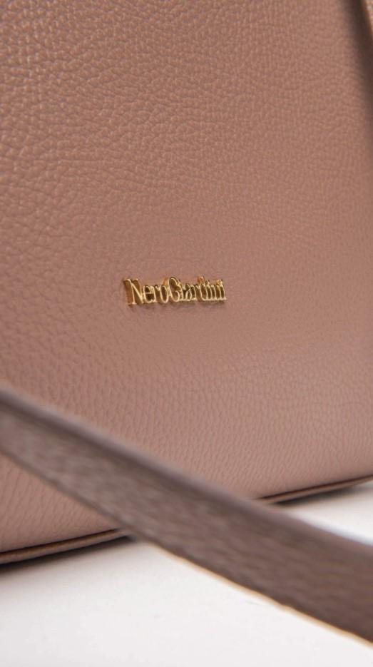 Borsa a Spalla da Donna in Pelle Nude Nero Giardini   Borse   I141030DAZALEA619