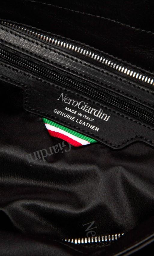 Borsa a Spalla in Pelle Nera Nero Giardini   Borse   I141034DNERO100