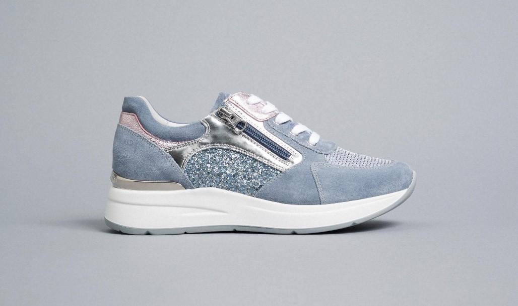 Sneakers Donna in Pelle Nero Giardini Nero Giardini | Sneakers | E010500D239