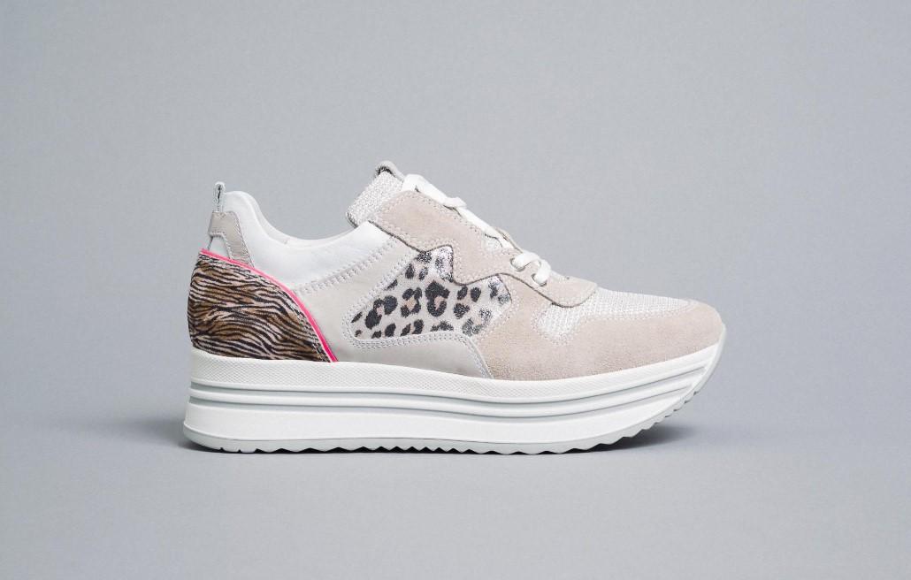 Sneakers Donna in Pelle Nero Giardini Nero Giardini | Sneakers | E010564D112