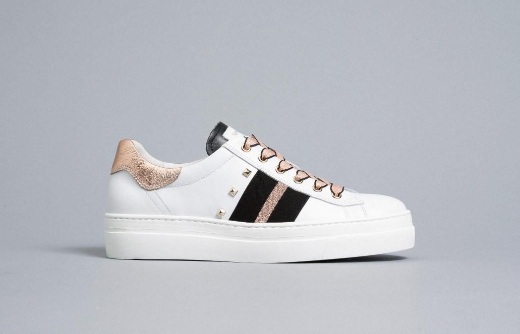 Sneakers Donna in Pelle Nero Giardini Nero Giardini | Sneakers | E010674D707