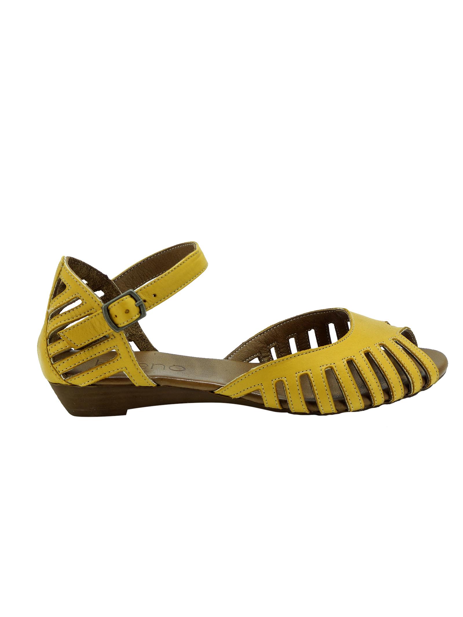 Sandali Donna Mary Jane in Pelle Bueno Bueno   Sandali   N3800YELLOW