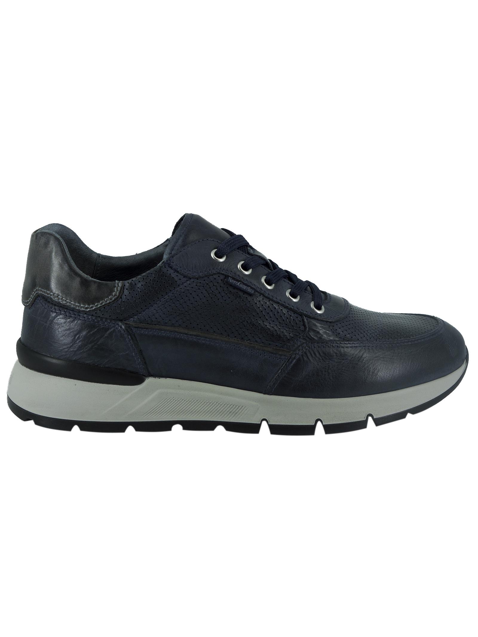 Sneakers Uomo in Pelle Nero Giardini Nero Giardini | Sneakers | E101991UBLU200