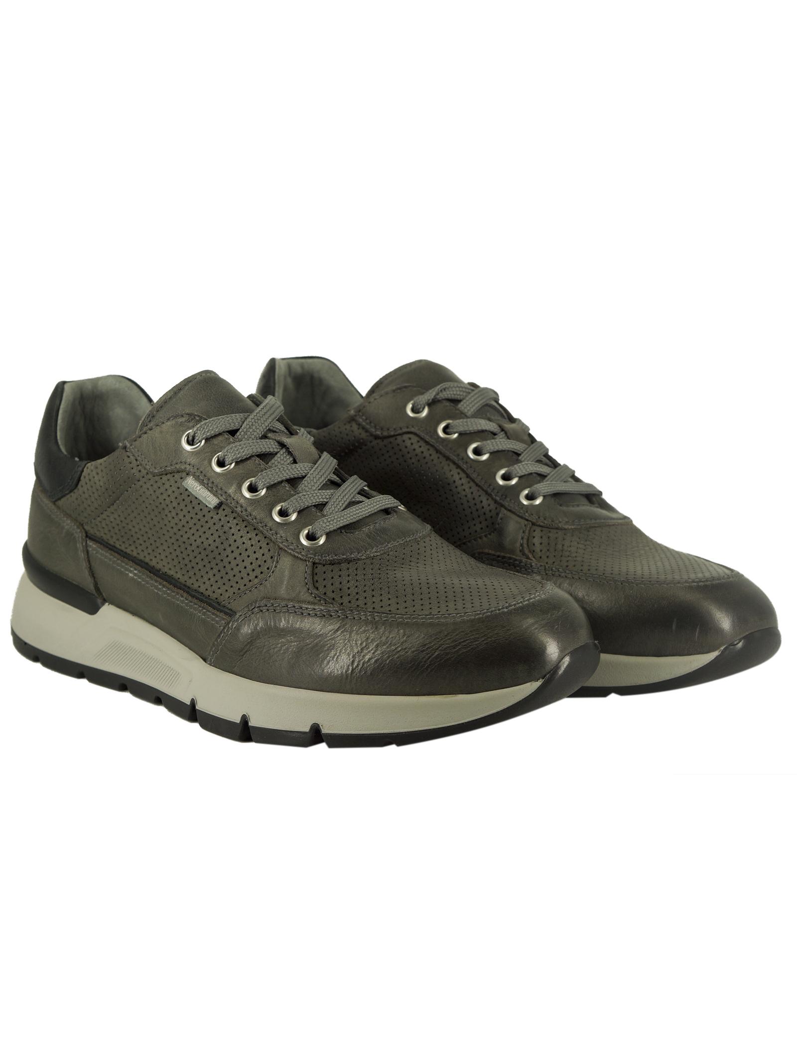 Sneakers Uomo in Pelle Nero Giardini Nero Giardini | Sneakers | E101991UGRIGIO105