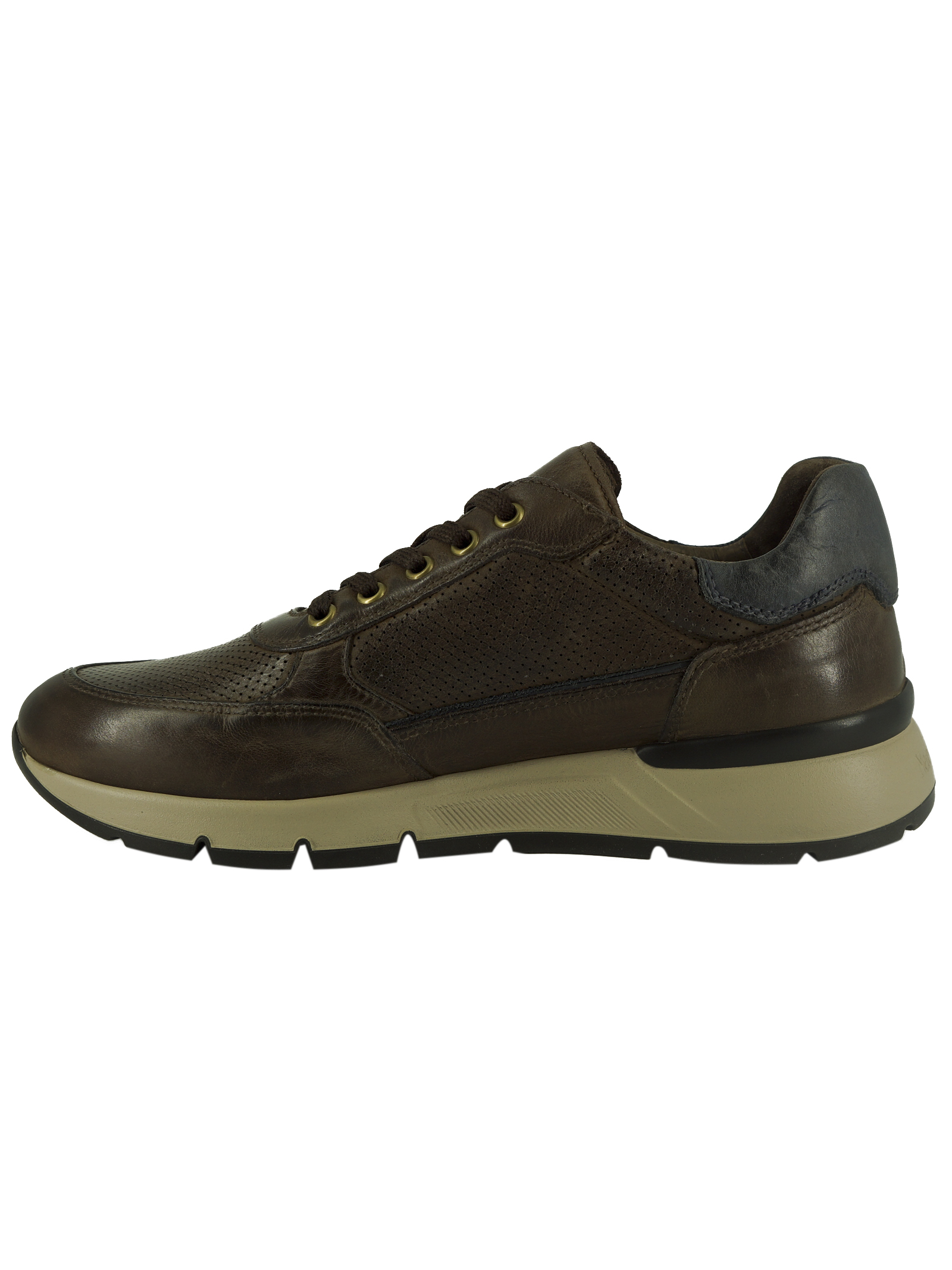 Sneakers Uomo in Pelle Nero Giardini Nero Giardini | Sneakers | E101991UMARRONE300