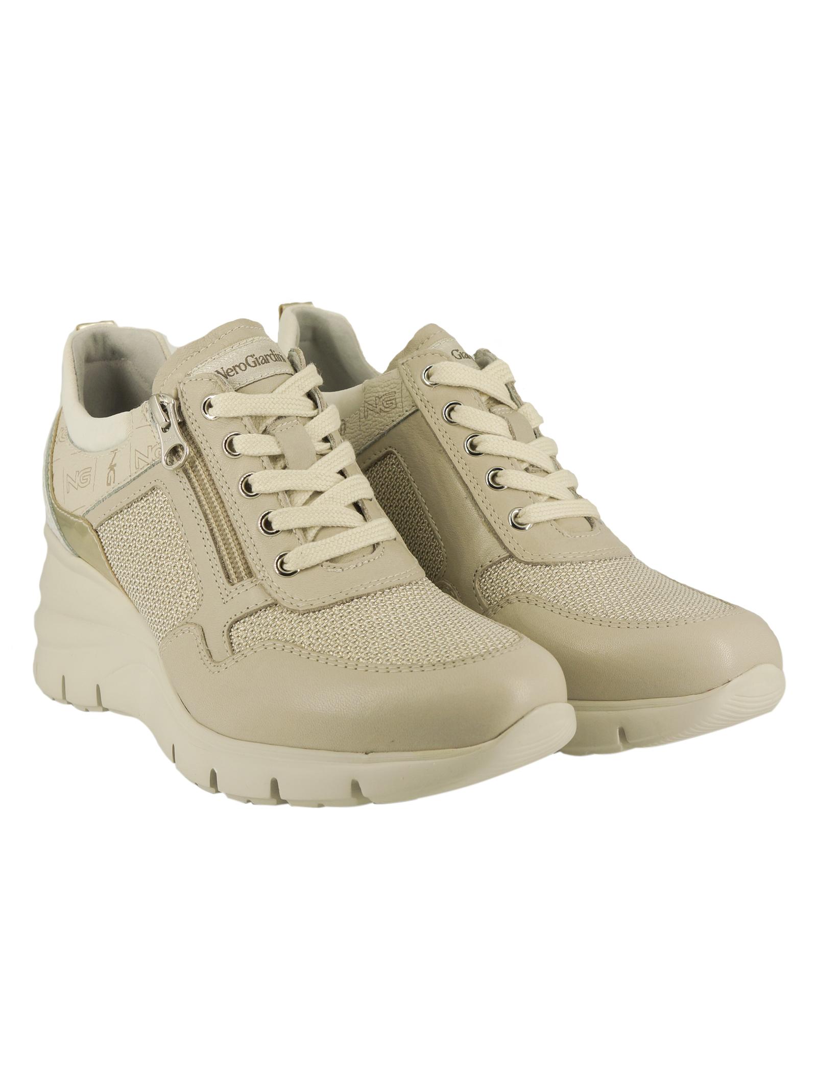 Sneakers Donna in Pelle Nero Giardini Nero Giardini | Sneakers | E115134DAVORIO702