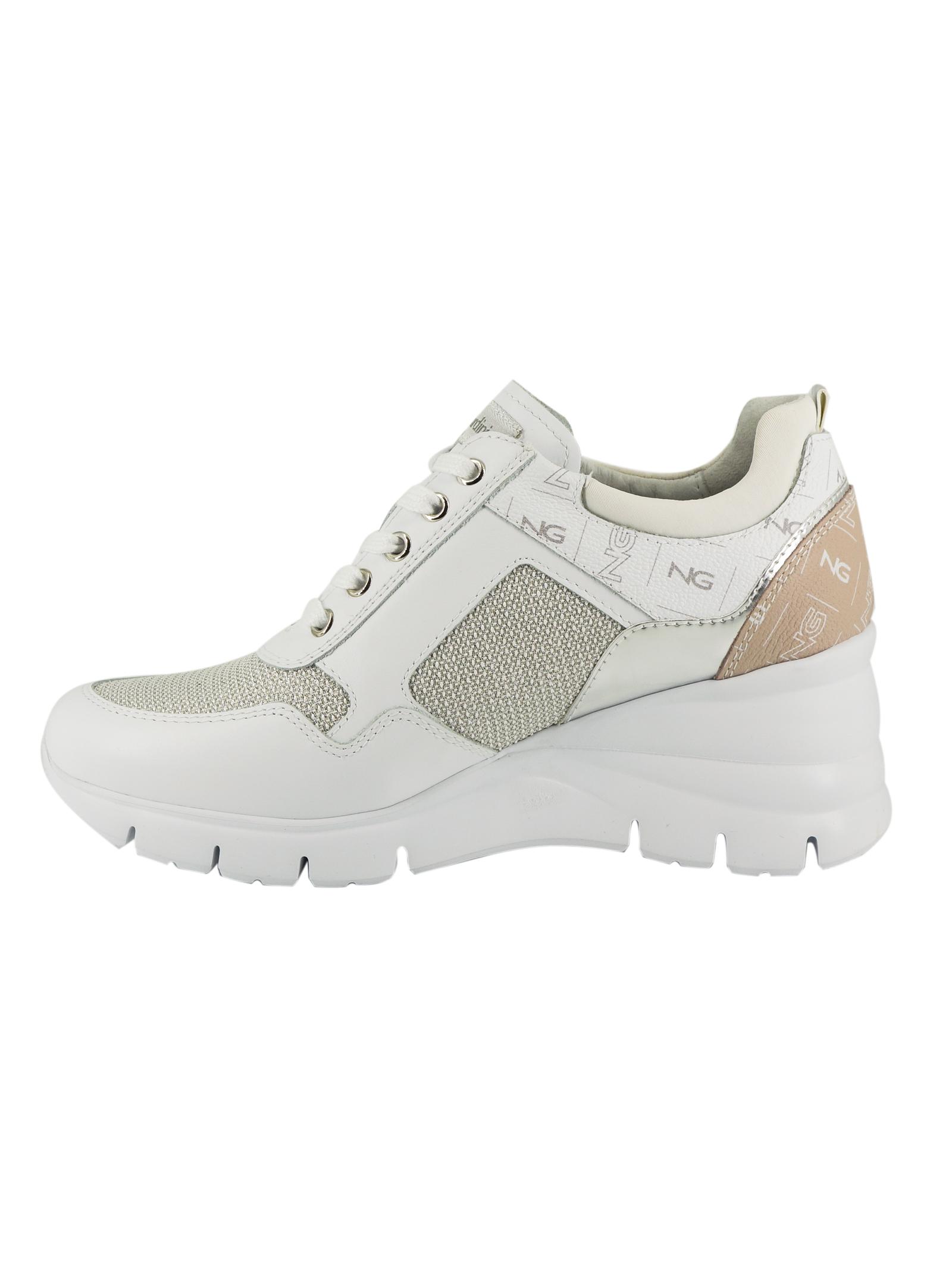 Sneakers Donna in Pelle Nero Giardini Nero Giardini | Sneakers | E115134DBIANCO707