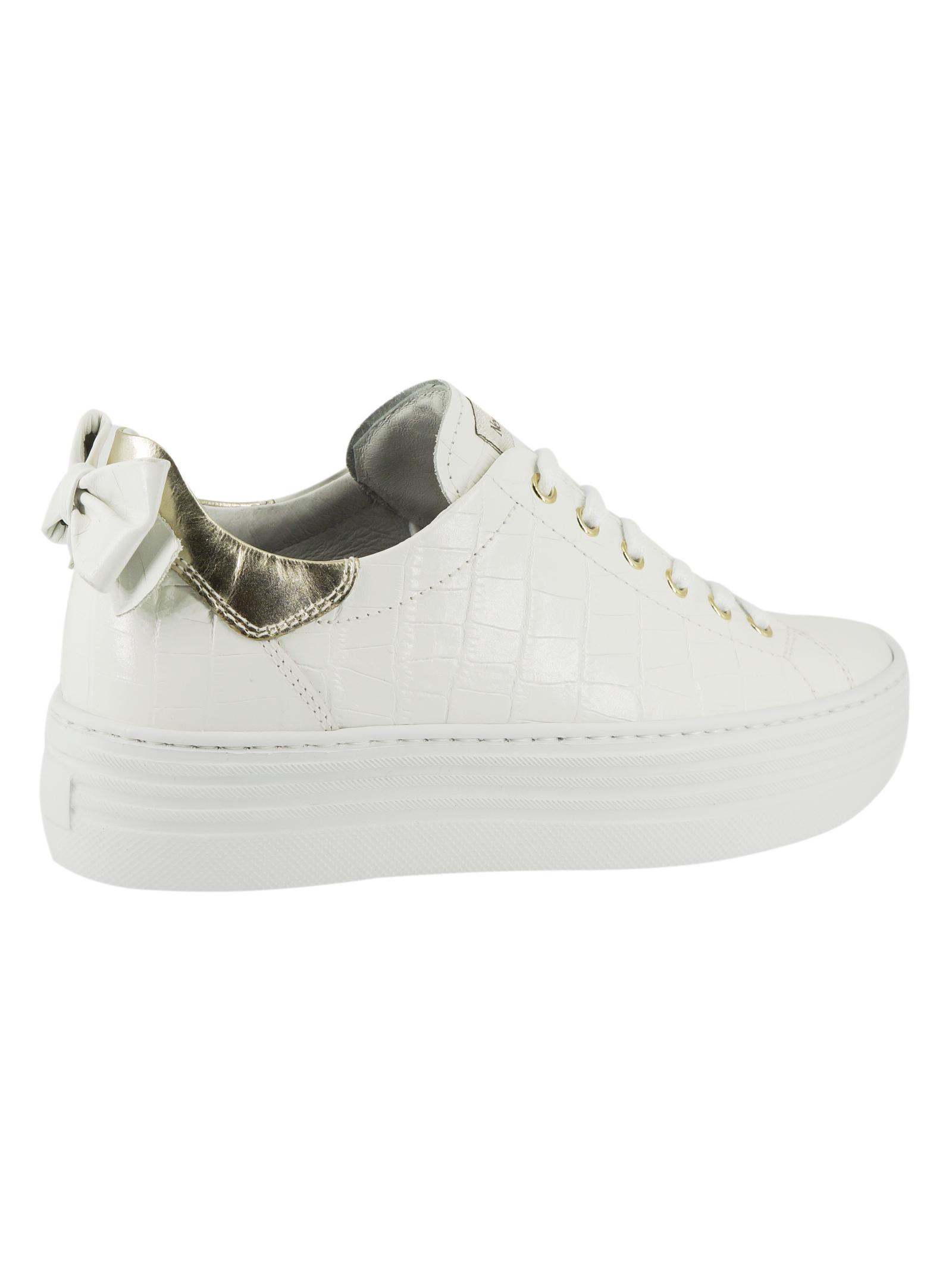 Sneakers Donna in Pelle Nero Giardini Nero Giardini   Sneakers   E115290DBIANCO707