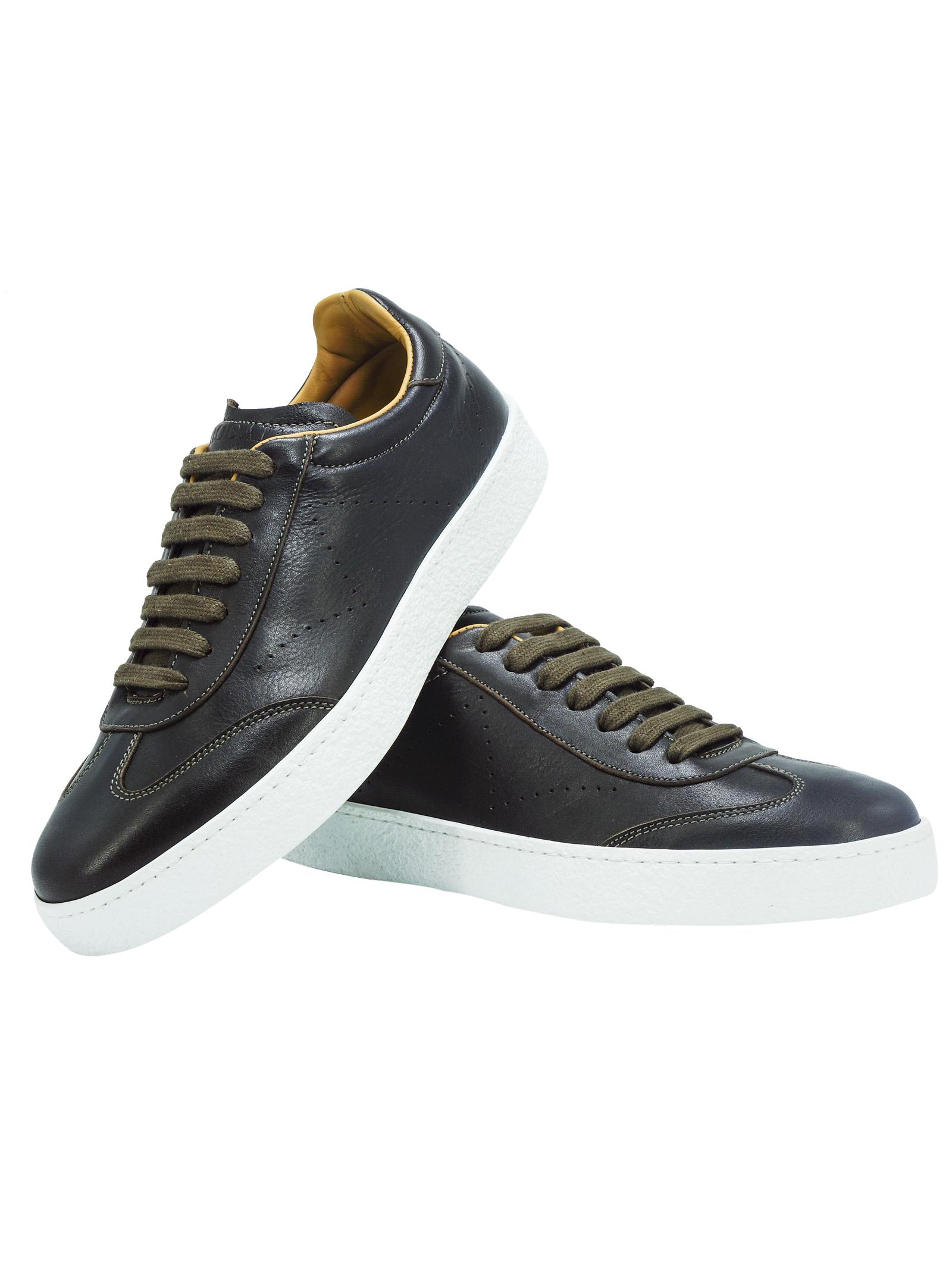 Sneakers Uomo in Pelle Marrone Rogal's | Sneakers | PAND2MORO
