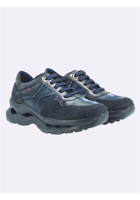 Sneakers Donna in Pelle Blu con Plantare Estraibile Callaghan | Sneakers | 18810BLU