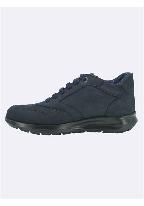 Sneakers Uomo in Pelle Blu con Plantare Estraibile Callaghan | Sneakers | 42604BLU