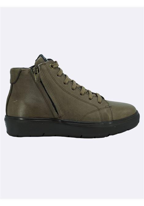 Stivaletto Sneakers Uomo in Pelle Pietra con Lacci e Zip Callaghan | Stivaletti | 45510PIETRA