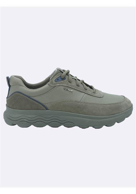Sneakers Uomo in Pelle GrigiaSphericaV GEOX | Sneakers | SPHERICAU16BYEGRIGIOC1018