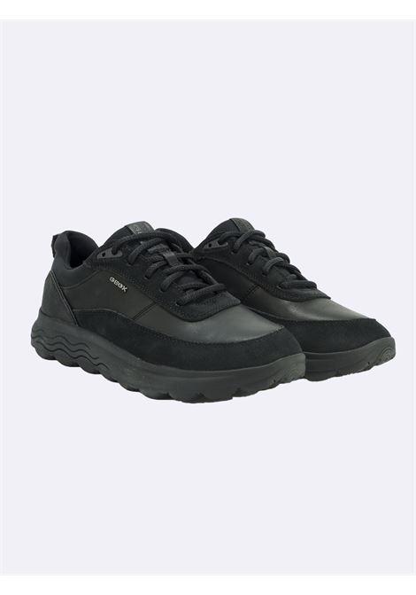 Sneakers Uomo in Pelle Nera Spherica GEOX | Sneakers | SPHERICAU16BYENEROC9997