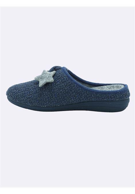 Pantofole Donna Blu con Plantare Estraibile Grunland | Pantofole | CI1789BLU