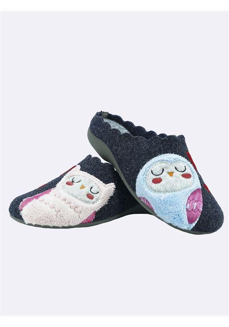 Pantofole Donna Grunland Fantasia Gufi Grunland | Pantofole | CI2481BLUGRIGIO