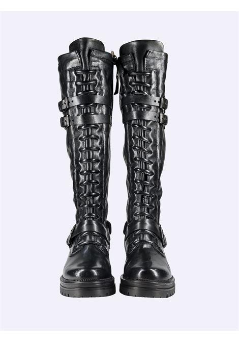 Stivali Anfibi Donna in Pelle Nera Mjus | Stivali | M77322BLACK