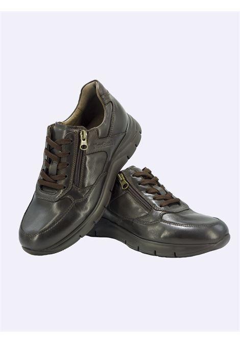 Sneakers Uomo in Pelle Marrone con Lacci e Zip Nero Giardini | Sneakers | I102153UMARRONE322