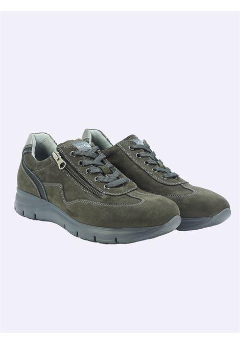 Sneakers Uomo in Pelle con Lacci e Zip Nero Giardini | Sneakers | I102154UANTRACITE101