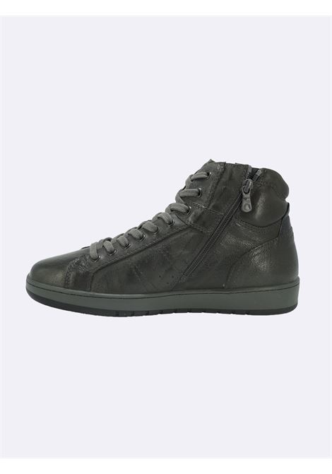 Sneakers Stivaletto Uomo in Pelle con Lacci e Zip Nero Giardini | Sneakers | I102190UPIOMBO109