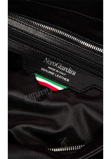 Borsa a Spalla in Pelle Nera Nero Giardini | Borse | I141034DNERO100