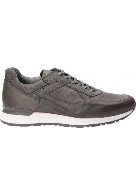 Sneakers Uomo in Pelle Grigio Nero Giardini Nero Giardini | Sneakers | P900830U105