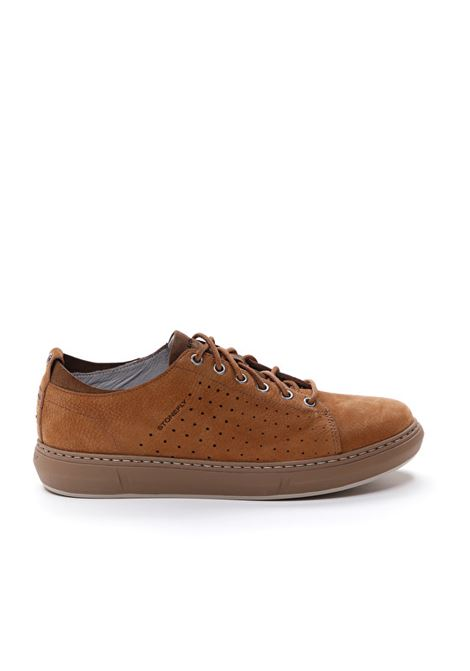Sneakers Uomo in Pelle Stonefly Stonefly | Sneakers | 213768TABACCO
