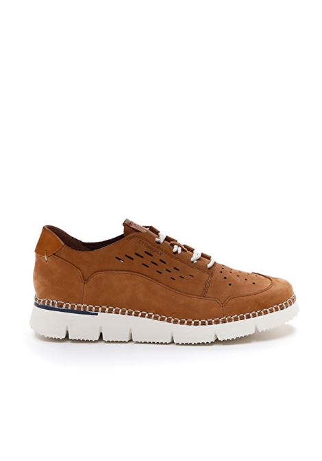 Sneakers Uomo in Nabuk Cuoio Stonefly Stonefly | Sneakers | 213935TABACCO