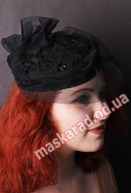 """Черная шляпка """"Таблетка"""""""