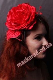 """Обруч красная """"Роза"""""""