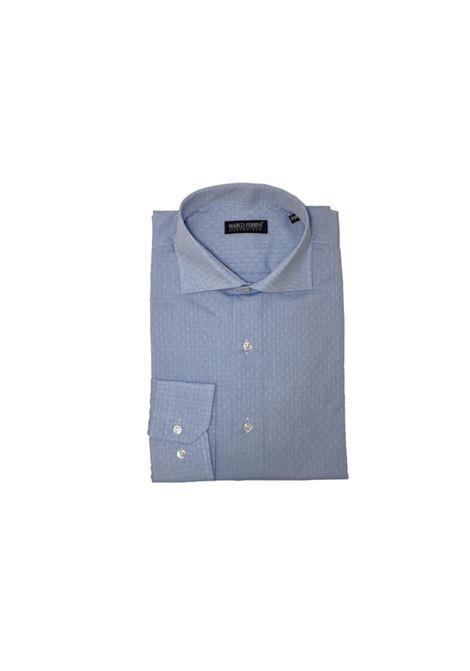 camicia cotone operato MARCO FERRINI | Camicia | COTTON OPERATO 213AZZURRA