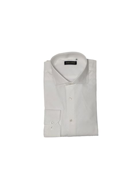 camicia cotone operato MARCO FERRINI | Camicia | COTTON OPERATO 213BIANCA
